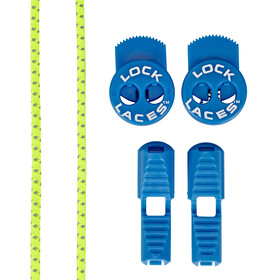 Lock Laces Run Laces - Reflective jaune/bleu